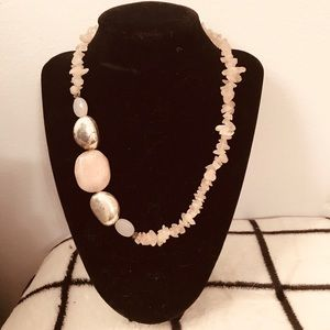 """Real stone 18"""" clasp necklace"""